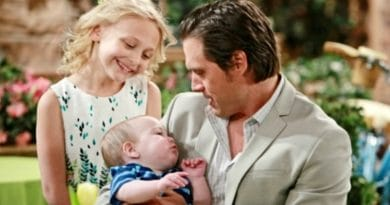 Young and the Restless: Faith Newman (Alyvia Alyn Lind) - Nick Newman (Joshua Morrow)