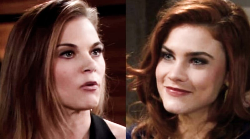 Young and the Restless: Phyllis Abbott (Gina Tognoni) - Bold and the Beautiful Sally Spectra (Courtney Hope)