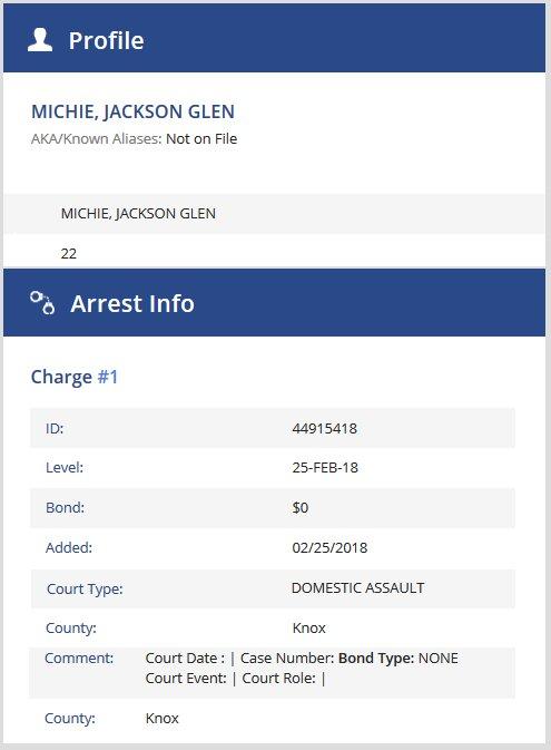 Big Brother: Jackson Michie - Arrest Record