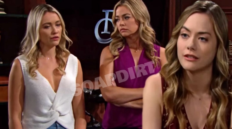 Bold and the Beautiful Spoilers: Flo Fulton (Katrina Bowden) - Shauna Fulton (Denise Richards) - Hope Logan (Annika Noelle)