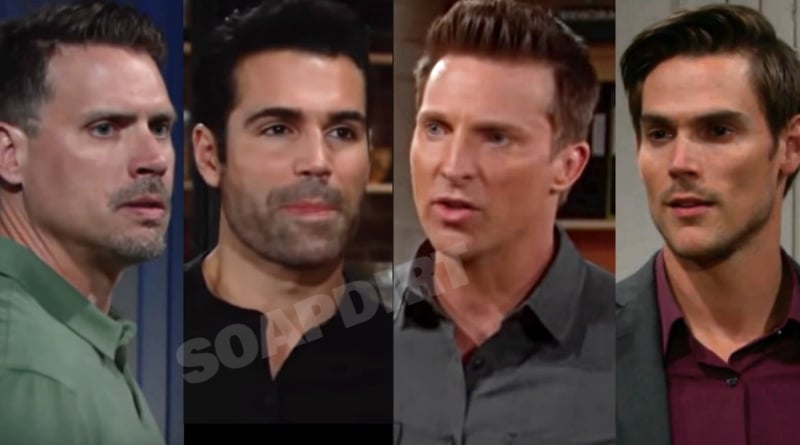 Young and the Restless: Nick Newman (Joshua Morrow) - Rey Rosales (Jodi Vilasuso) - Dylan McAvoy (Steve Burton) - Adam Newman (Mark Grossman)