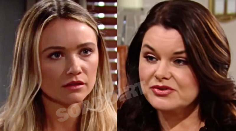 Bold and the Beautiful Spoilers: Flo Fulton (Katrina Bowden) - Katie Logan (Heather Tom)