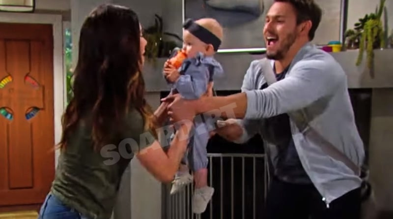 Bold and the Beautiful Spoilers: Steffy Forrester (Jacqueline MacInnes Wood) - Liam Spencer (Scott Clifton) - Beth Spencer (Madeline Valdez & River Davidson)