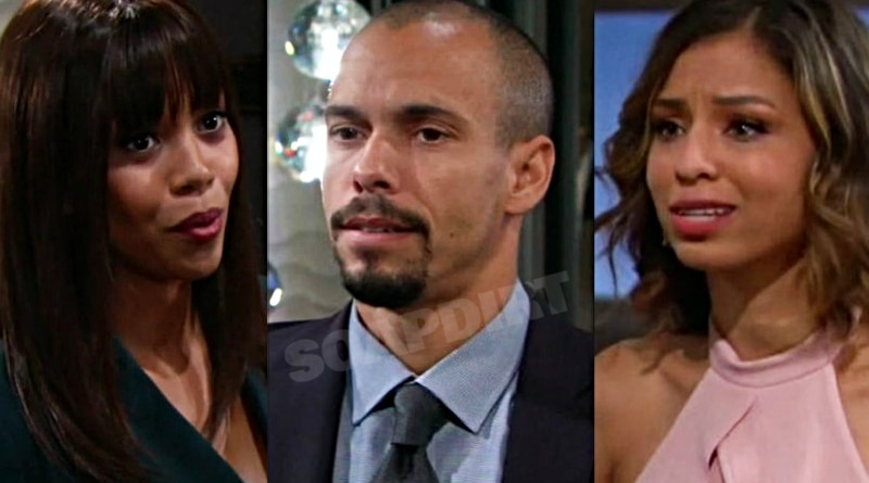 Young and the Restless: Amanda Sinclair (MishaelMorgan) - Devon Hamilton (Bryton James) - Elena Dawson (Brytni Sarpy)