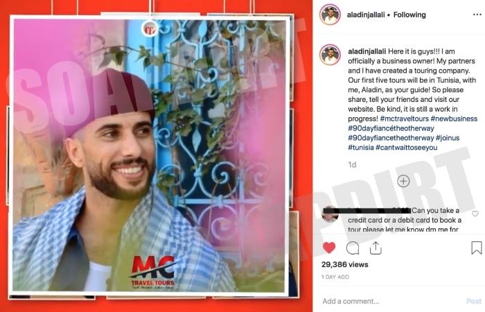 90 Day Fiance: Aladin Jallali - Instagram