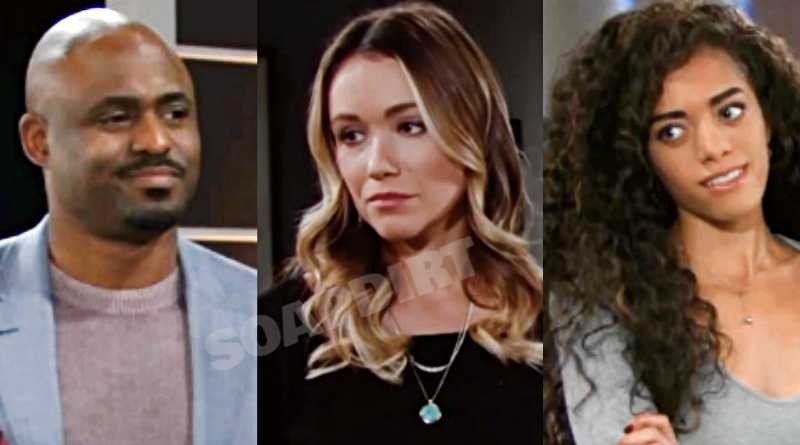Bold and the Beautiful Spoilers: Reese Buckingham (Wayne Brady) - Flo Fulton (Katrina Bowden) - Zoe Buckingham (kiara Barnes)