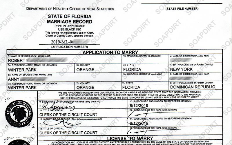 90 Day Fiance: Robert Springs - Anny - Marriage License
