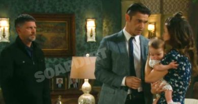 Days of OUr Lives Spoilers: Eric Brady (Greg Vaughan) - Xander Cook (Paul Telfer) - Sarah Brady (Linsey Godfrey) - Mickey Horton (May Twins)