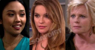 Days of Our Lives: Haley Chen (Thia Megia) - Jordan Ridgeway (Chrishell Stause) - Adrienne Kiriakis (Judi Evans)