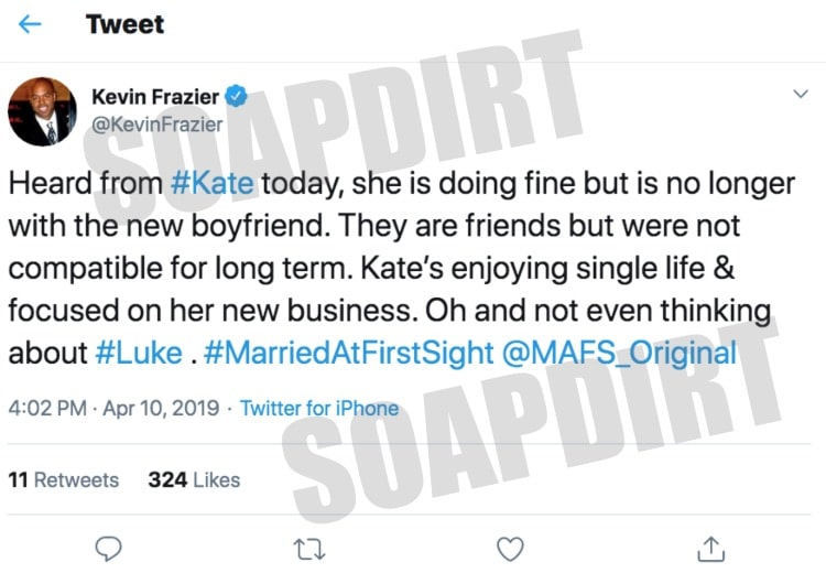 Married at First Sight: Kevin Frazier - Twitter