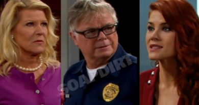 Bold and the Beautiful Spoilers: Pam Douglas (Alley Mills) - Charlie Webber (Dick Christie) - Sally Spectra (Courtney Hope)