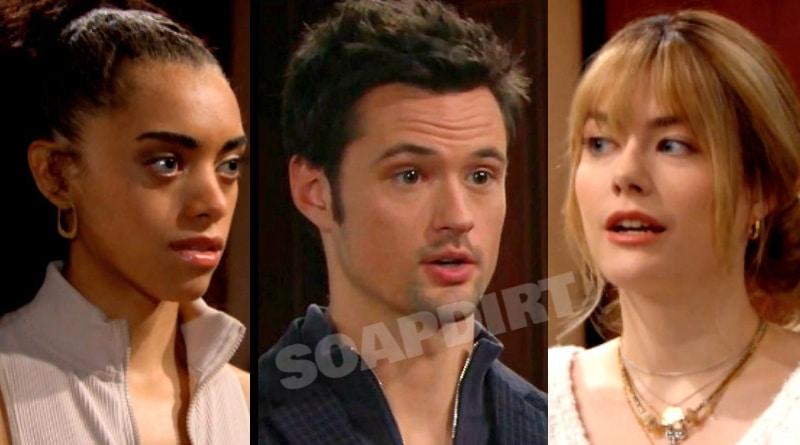 B&B Spoilers: Zoe Buckingham (Kiara Barnes) - Thomas Forrester (Matthew Atkinson) - Hope Logan (Annika Noelle)