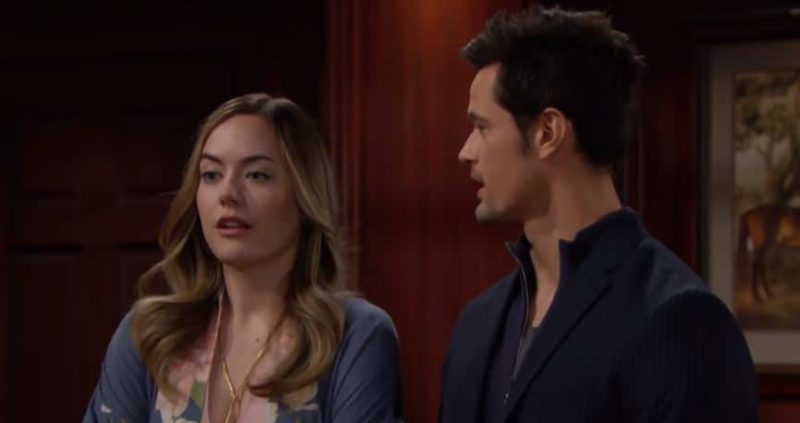 Bold and the Beautiful: Hope Logan (Annika Noelle) Thomas (Matthew Atkinson)