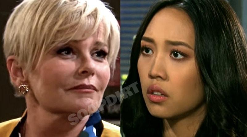 Days of Our Lives Spoilers: Adrienne Kiriakis (Judi Evans) - Haley Chen (Thia Megia)