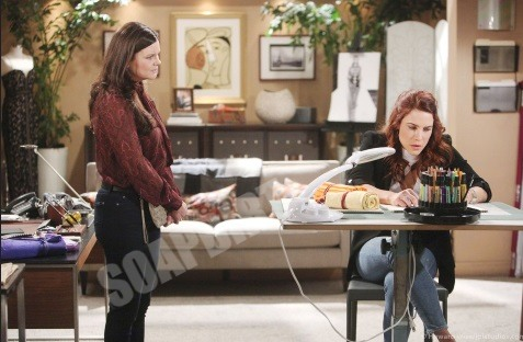 Bold and the Beautiful Spoilers: Katie Logan (Heather Tom) - Sally Spectra (Courtney Hope)