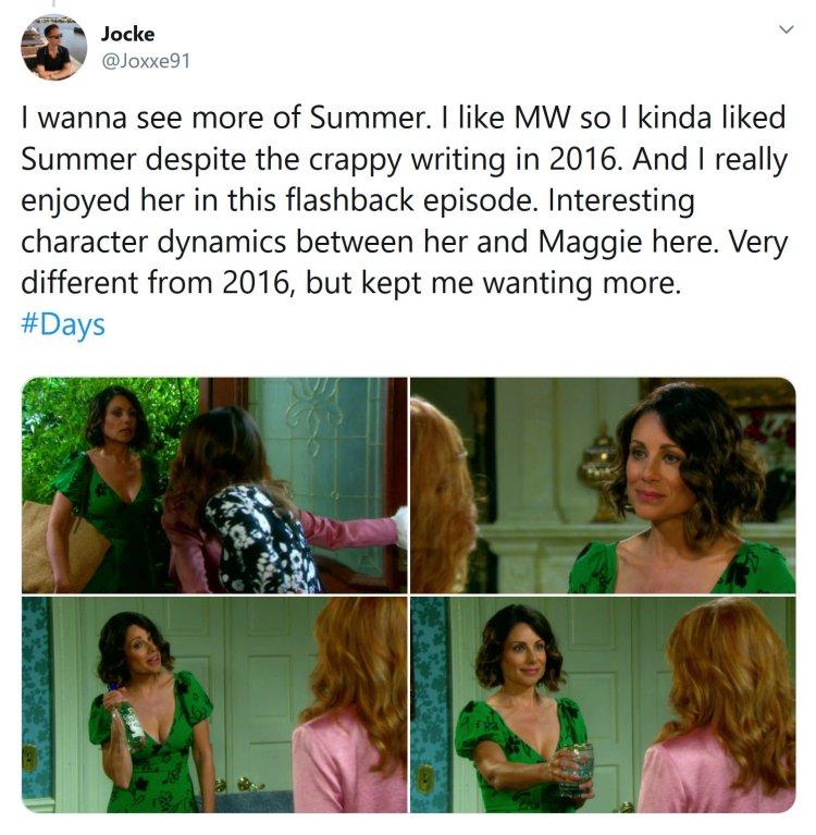 Summer Townsend (Marie Wilson) - Maggie Horton (Suzanne Rogers)