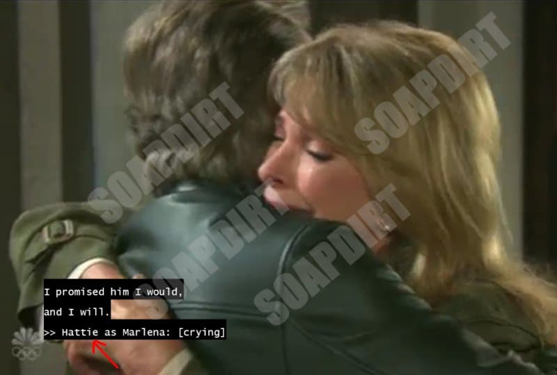 Days of Our Lives Spoilers: Stefano DiMera - Steve Johnson (Stephen Nichols) - Hattie Adams - Marlena Evans (Diedre Hall)