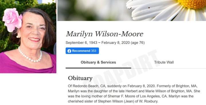 Shemar Moore - Marilyn Wilson Moore obituary