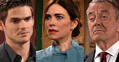 Young and the Restless Spoilers-Adam Newman (Mark Grossman) - Victoria Newman (Amelia Heinle) - Victor Newman (Eric Braeden)