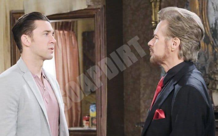 Days of Our Lives Spoilers: Stefano DiMera (Stephen Nichols) - Chad DiMera (Billy Flynn)