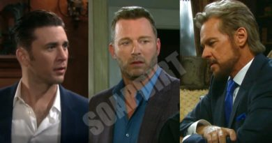 Days of Our Lives Spoilers: Stefano DiMera (Stephen Nichols) - Chad DiMera (Billy Flynn) - Brady Black (Eric Martsolf)