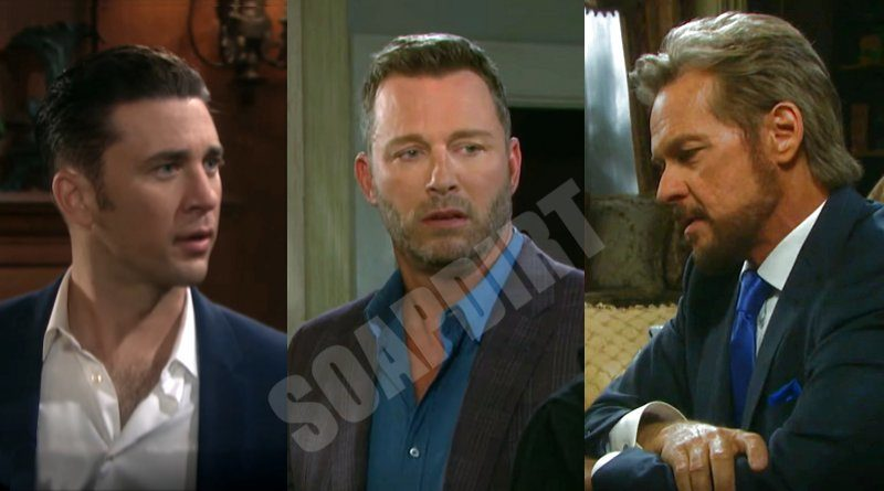 Days of Our Lives Spoilers: Stefano DiMera (Stephen Nichols) - Chad DiMera (Billy Flynn) - Brady Black (Eric Martsolf)