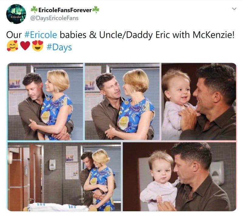Days of Our Lives Spoilers: Brady Black (Eric Martsolf) - Nicole Walker (Arianne Zucker) - Eric Brady (Greg Vaughan) - Mickey Horton (May Twins)