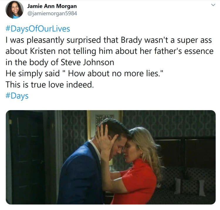 Days of Our Lives: Kristen DiMera (Stacy Haiduk) - Brady Black (Eric Martsolf)