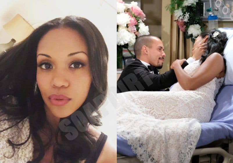 Young and the Restless: Amanda Sinclair - Hilary Curtis (Mishael Morgan) - Devon Hamilton (Bryton James)