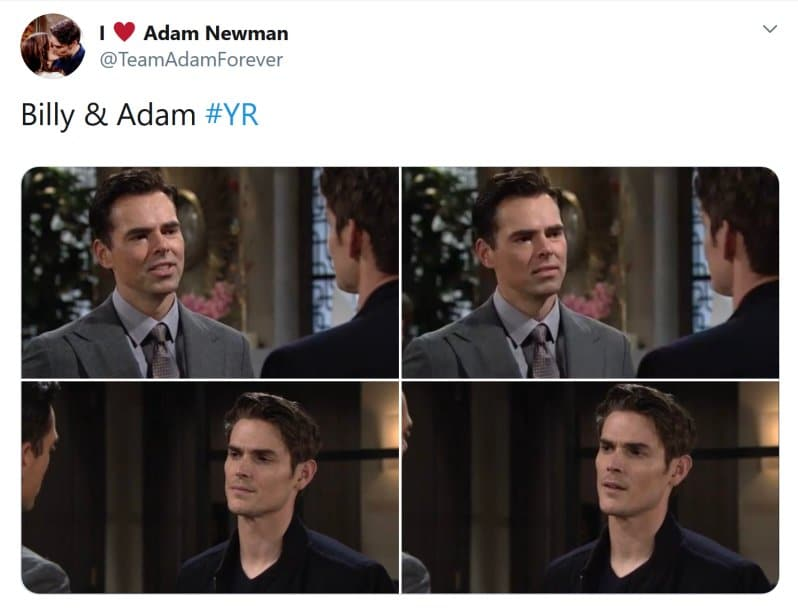 Young and the Restless Spoilers: Adam Newman (Mark Grossman) - Billy Abbott (Jason Thompson)