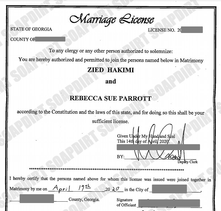 90 Day Fiance: Rebecca Parrott - Zied Hakimi - Before the 90 Days - Marriage License
