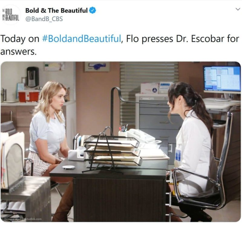 Bold and the Beautiful Spoilers: Flo Fulton (Katrina Bowden) - Penny Escobar (Monica Ruiz)