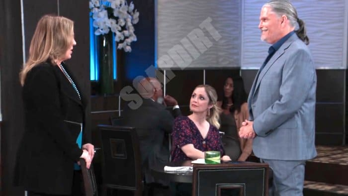 General Hospital Spoilers: Laura Spencer (Genie Francis) - Lulu Spencer (Emme Rylan) - Cyrus Renault (Jeff Kober)