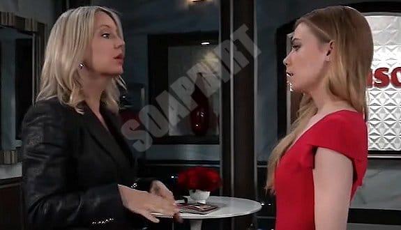General Hospital Spoilers: Nelle Hayes (Chloe Lanier ) - Nina Reeves (Cynthia Watros)