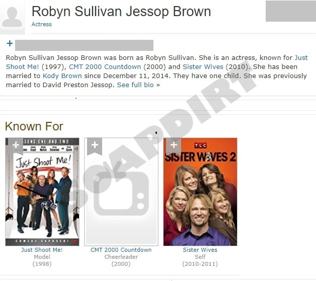 Sister Wives: Robyn Brown - Acting Credits