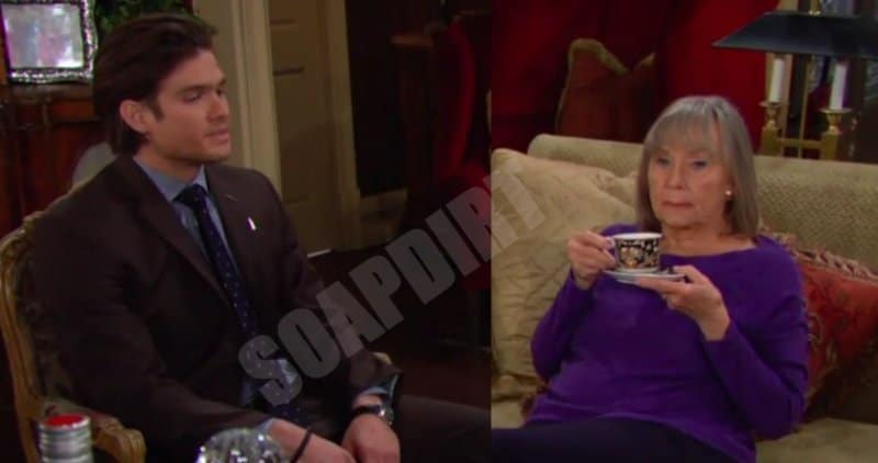 Young and the Restless Spoilers: Dina Nergeron (Marla Adams) - Theo Vanderway (Tyler Johnson)