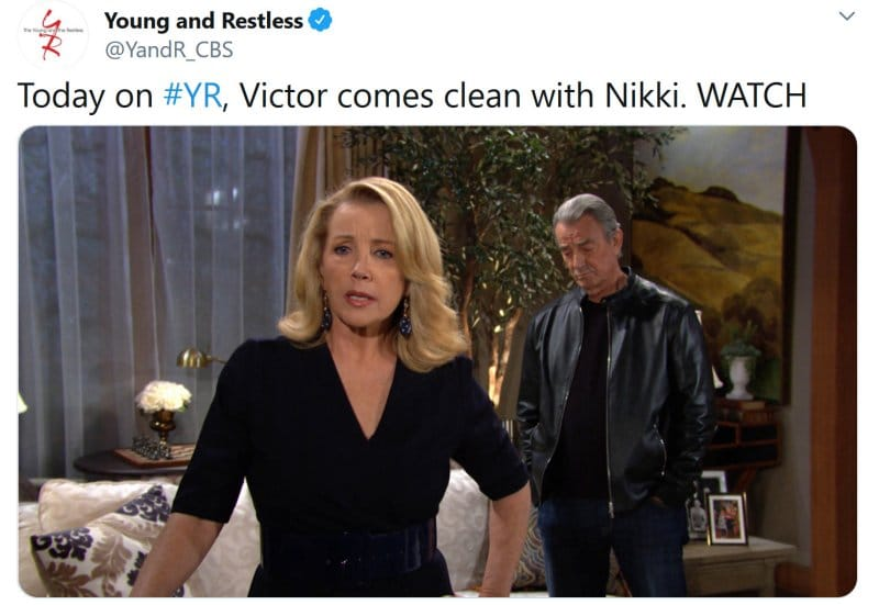 Young and the Restless: Victor Newman (Eric Braeden) - Nikki Newman (Melody Thomas Scott)
