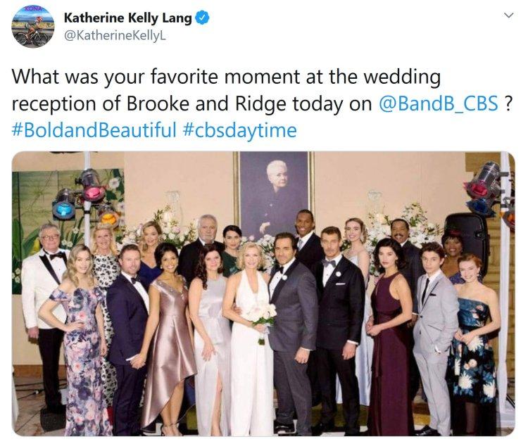 Bold and the Beautiful: Brooke Logan (Katherine Kelly Lang) - Ridge Forrester (Thorsten Kaye)