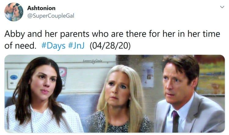 Days of Our Lives Spoilers: Abigail Deveraux DiMera (Kate Mansi) - Jack Deveraux (Matthew Ashford) - Jennifer Horton (Melissa Reeves)