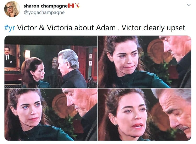 Young and the Restless: Victor Newman (Eric Braeden) - Victoria Newman (Amelia Heinle)