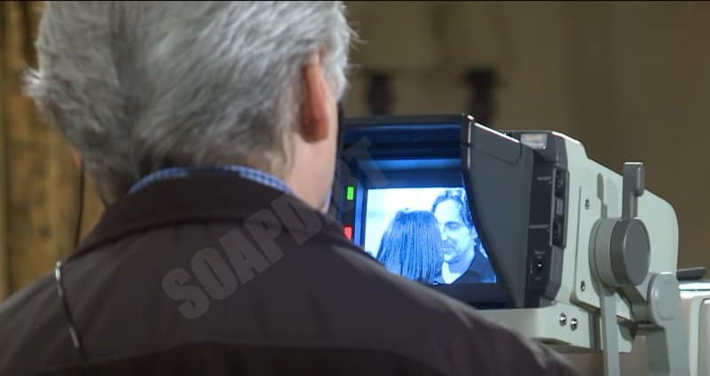 Bold and the Beautiful: Ridge Forrester (Thorsten Kaye) behind the scenes with crew