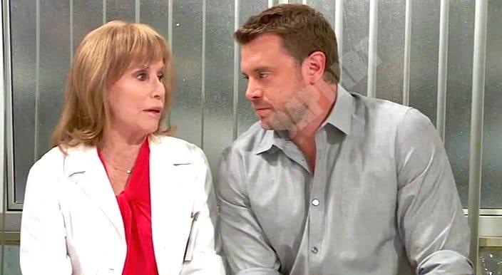 General Hospital: Drew Cain (Billy Miller) - Monica Quartermaine (Leslie Charleson)