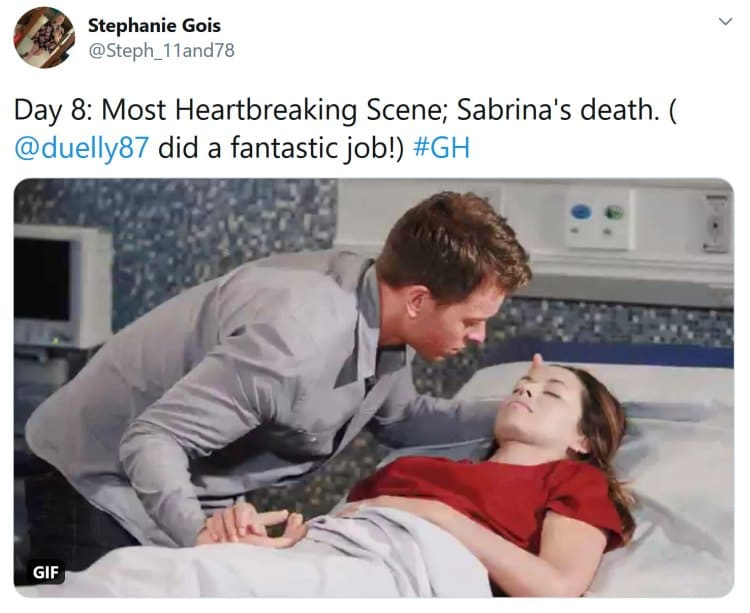 General Hospital: Michael Corinthos (Chad Duell) - Sabrina Santiago (Teresa Castillo)