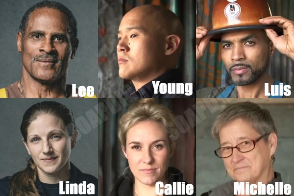 Tough as Nails: Lee Marshall - Young An - Luis Yuli - Callie Cattell - Michelle Kiddy - Linda Goodridge