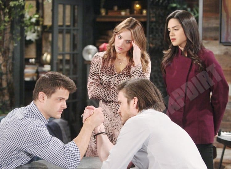 Young and the Restless: Theo Vanderway (Tyler Johnson) - Lola Rosales (Sasha Calle) - Kyle Abbott (Michael Mealor) - Summer Newman (Hunter King)
