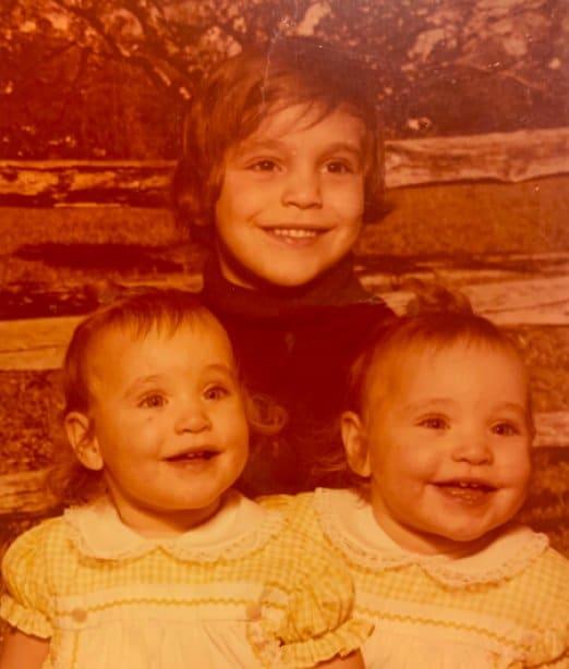 Michael Silva Jr and twin sisters