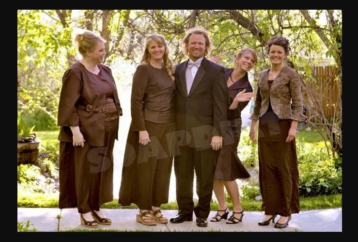 Sister Wives: Janelle Brown - Christine Brown - Kody Brown - Meri Brown - Robyn Brown In Brown Clothes