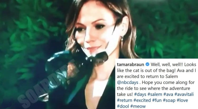 Days of our Lives Comings & Goings: Ava Vitali (Tamara Braun)