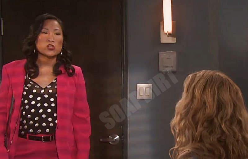 Days of our Lives Comings Goings: DA Melinda Trask (Tina Huang)