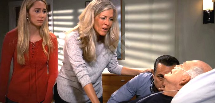 General Hospital Spoilers: Mike Corbin (Max Gail) - Sonny Corinthos (Maurice Benard) - Carly Corinthos (Laura Wright) - Josslyn Jacks (Eden McCoy)